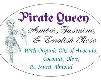 Pirate Queen Amber, Jasmine, and Rose Artisan Soap