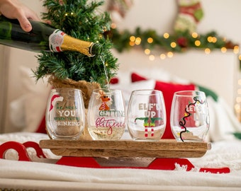 funny christmas wine glasses christmas wine glasses christmas gifts christmas glasses christmas gifts for coworkers wine gifts