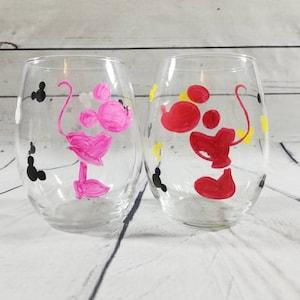 Kingdom Hearts Wine Glass  Kingdom Hearts Decor  Disney Decor  Disney Gifts  Kingdom Hearts Wedding  Kingdom Hearts Gift  Mickey Mouse