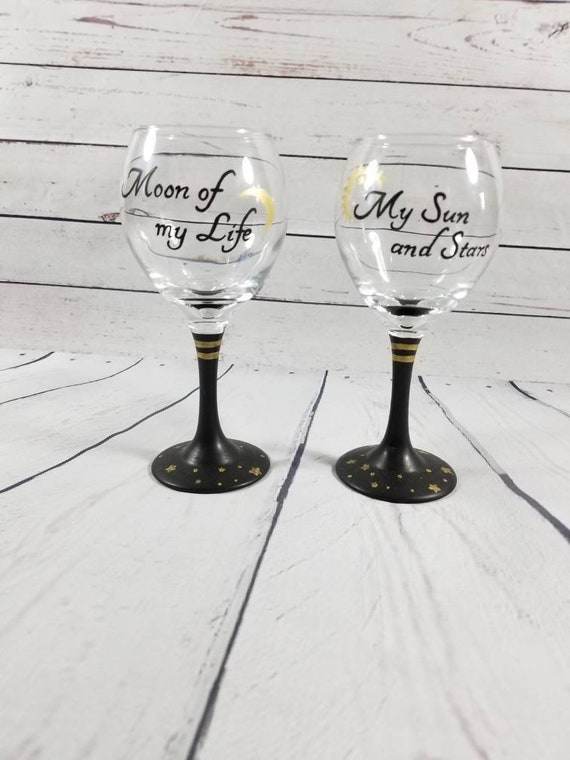 Game Of Thrones Wine Glasses Game Of Thrones Wedding Game Etsy