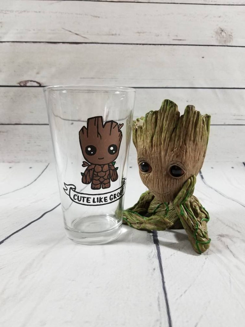 006d4a81e Baby Groot Glass / Groot Tumbler / Baby Groot Gift / Groot | Etsy