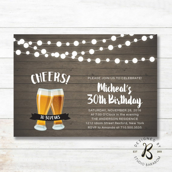 Items Similar To 30th Birthday Invitation, Adult Birthday