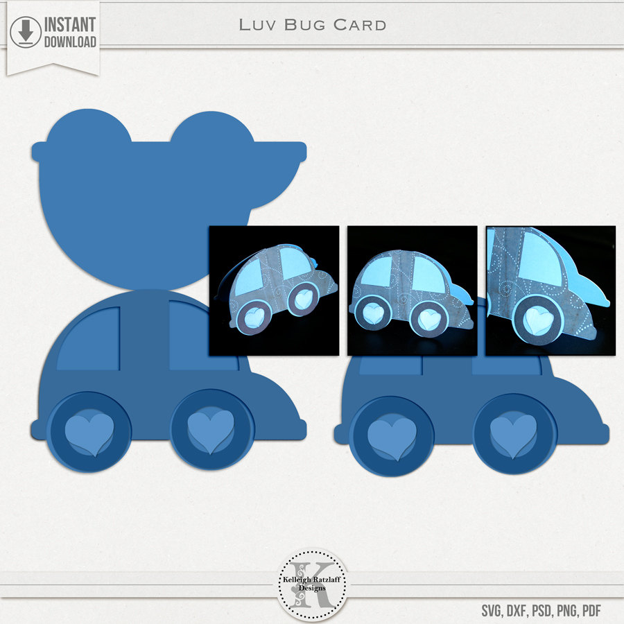 luv bug card svg psd pdf