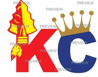 KC Chiefs & Royals Logo, Kansas City Sports Logo, SVG / DIY kc shirt/ heat transfer vinyl
