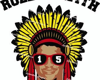 Rollin' With Mahomies svg: Kansas City Chiefs SVG file. Patrick Mahomes, KC, Football, Cricut/Silhouette Cut File for HTV