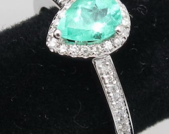 Columbian Emerald & Diamond Ring Gift