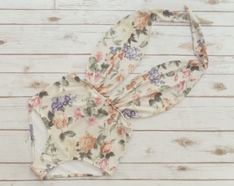 8c0e6a299b1f4 Swimsuit High Waisted Vintage Style One Piece Retro Pin-up Maillot - Floral  Print Bohemian Bathing Suit Swimwear - Unique Pretty & So Cute!