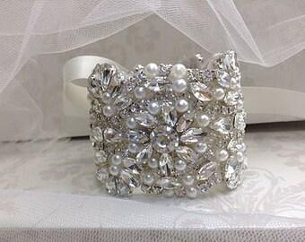 Crystal Bridal bracelet/cuff
