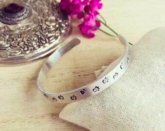 Paw print cuff bracelet | customize| personalize
