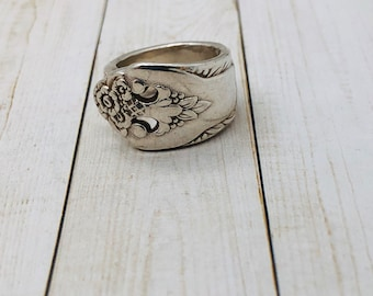 Floral Ring| Vintage Spoon Ring | Silver ring