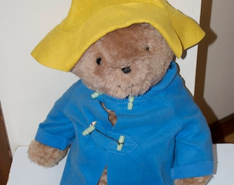 "Paddington Bear Blue Coat Yellow Hat 26"" Large"