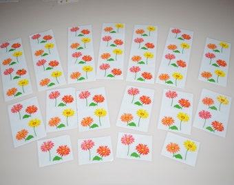 PINK FLOWER HEART 1994 ..... Mrs Grossman ..... Stickers Free Shipping