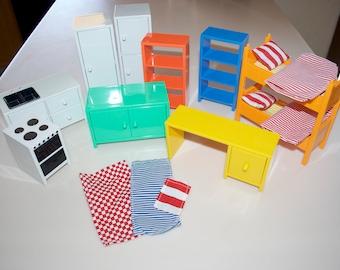 ikea doll furniture. Ikea Dollhouse Furniture Lillabo Huset Flisat Kitchen Bed Desk Shelves Doll