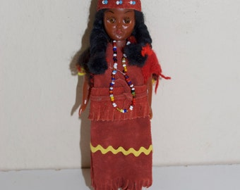 Celluloid Native American Indian Doll with Papoose