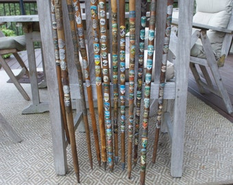 Choose ONE: Vintage German Cane Walking Stick West Germany German