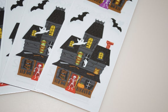 Mrs Grossman/'s HAUNTED MANSION Stickers HAUNTED HOUSE WITH BATS NEW