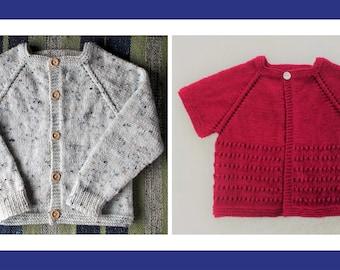 e4e4fe8a5 Little Louie Baby Cardigan Jacket Knitting Pattern PDF
