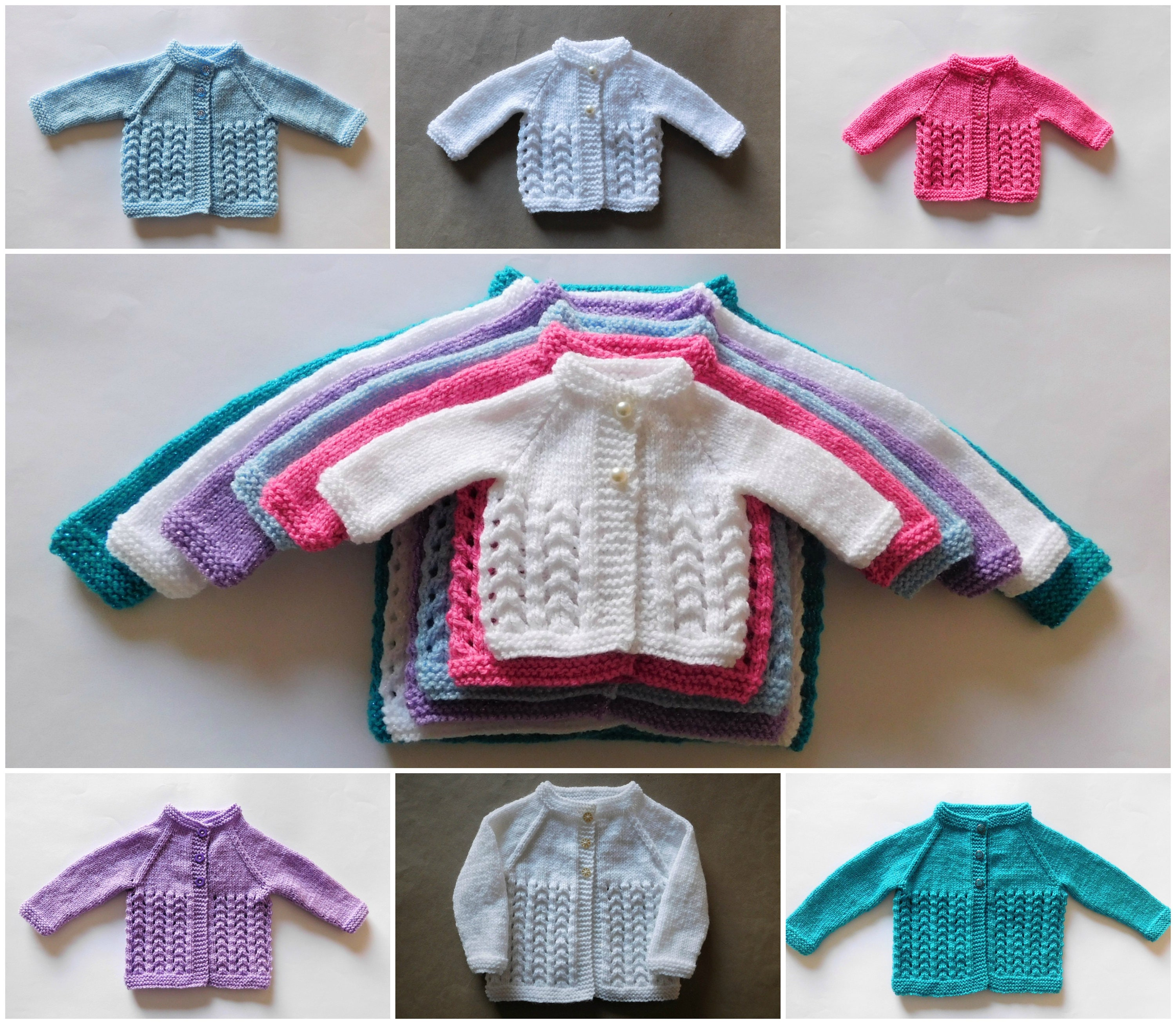 d9d9a0bf114e Snowdrop Baby Cardigan Jacket Knitting Pattern