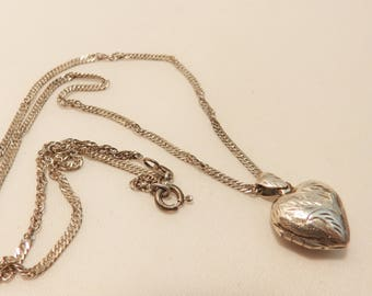 Vintage Sterling Silver Heart Locket
