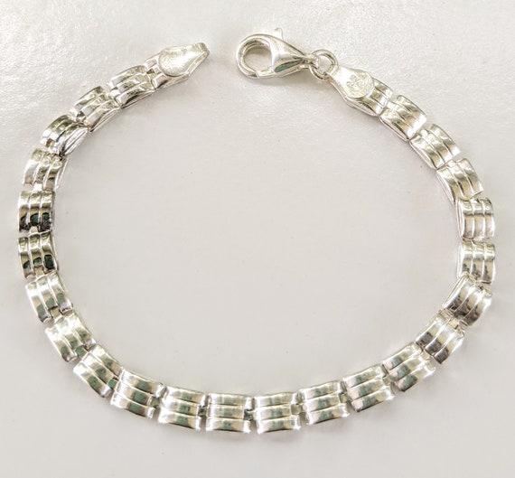Soviet Bracelet Vintage Bracelet Lovely Gift for her Silver Tone Bracelet Thin Gentle Bracelet Retro Jewelry