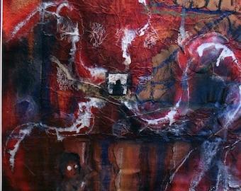 Sinuous Miasma - Original Mixed Media Painting