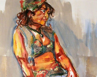 Patricia I - Original Mixed Media Painting