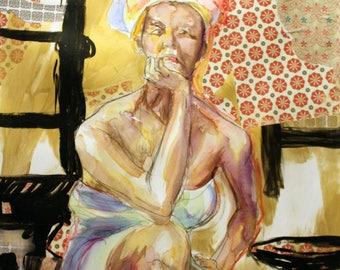 Josephine I - Original Mixed Media Painting