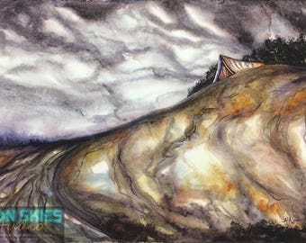 Around the Bend - Original Watercolor Painting