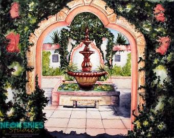 Water Garden - Original Watercolor Painting
