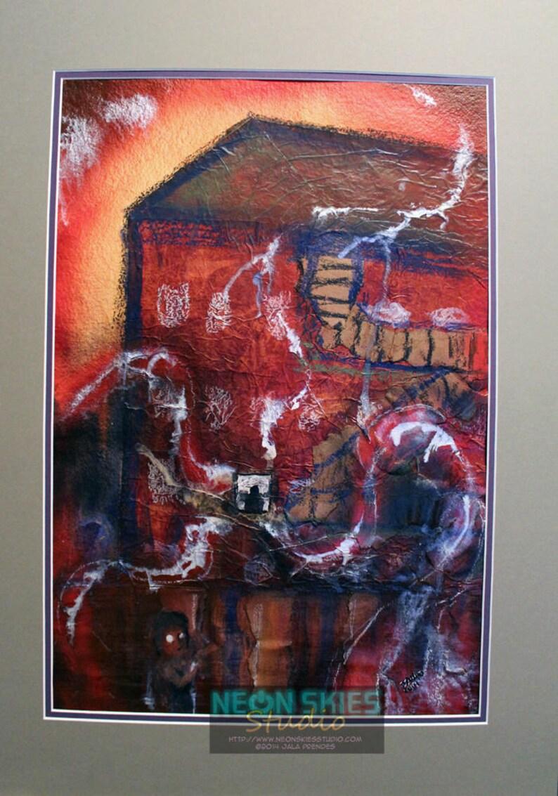 Sinuous Miasma  Original Mixed Media Painting image 0