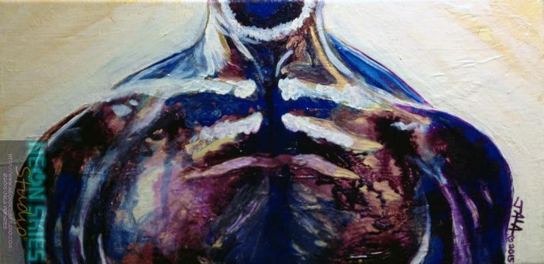 Symmetry  Original Acrylic Ink Painting image 0