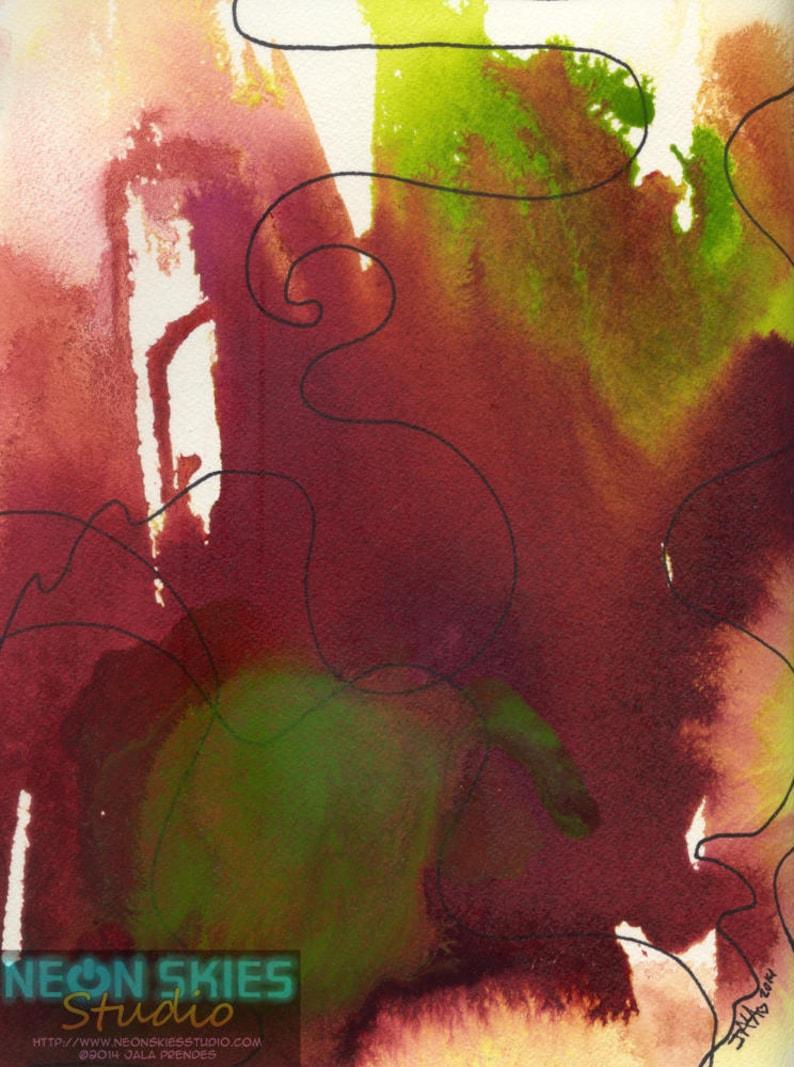 Journey  Original Acrylic Ink Painting image 0