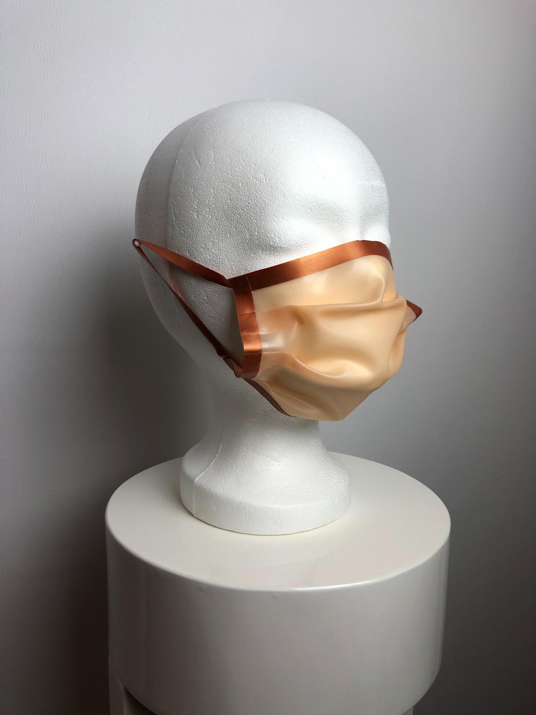 Latex Mund-Nasen-Maske Hautfarbe und Kupfer