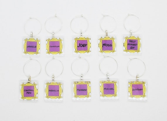 YOU PICK 63 Different Sayings Vintage Girl Wine Charms Set of 6 Girlfriends Wine Charms Retro Girlfriend Best Friends Wine Charms