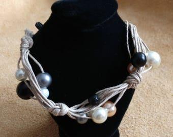 OOAK Glass Pearl Bracelet