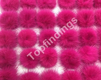 887f7a9adfa 2pcs DIY Genuine Mink Fur ball Furry Ball for Handbag Charm, Keychain-Rose  (40-60mm)