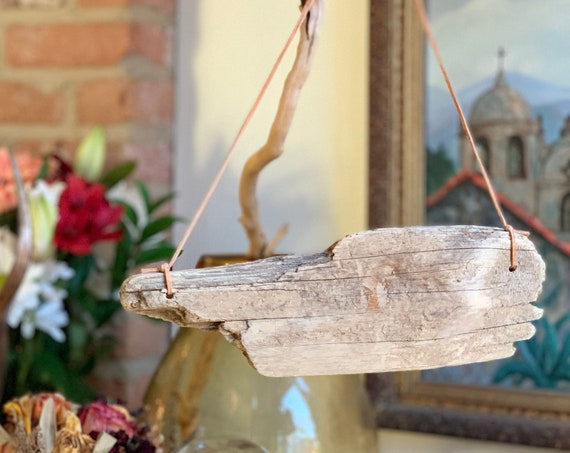 Flat Driftwood Sign Base - Reclaimed Wood Piece Sign for DIY Projects - Organic Slabs of Driftwood for Hanging Signs - Rustic Boho Decor