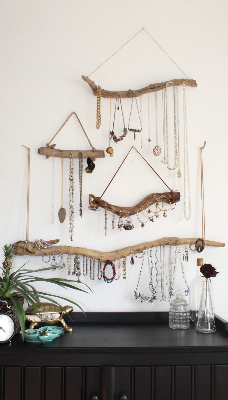 Driftwood Jewelry Organizer  Made to Order Jewelry Hangers  image 0