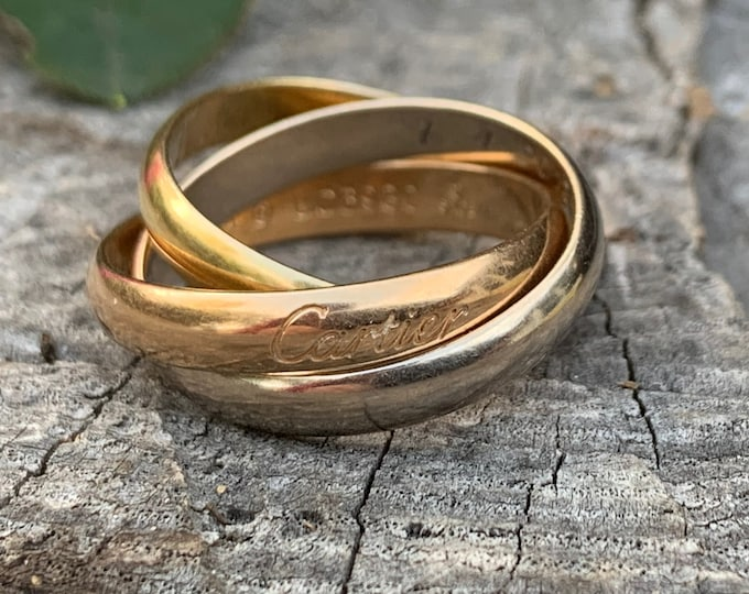 Cartier Rolling Ring, Cartier Trinity Ring, Gold Rolling Ring, Gold Trinity Ring