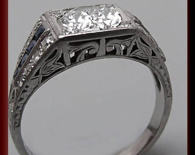 Art Deco Engagement Ring Antique Engagement Ring Vintag Ring Statement Ring Alternative Ring Art Deco Ring Filigree Ring Unique Ring For Her