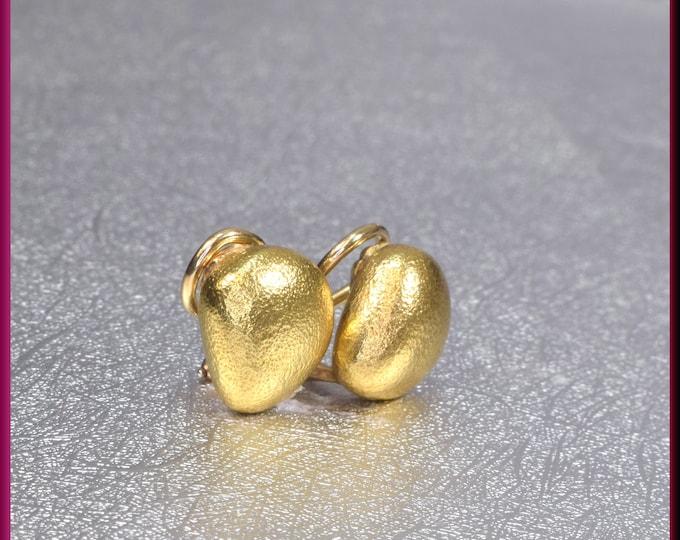 Tiffany and Co Earrings, Tiffany Gold Earrings, Tiffany Gold Bean, Gold Bean Earrings, Tiffany Bean Earrings, Anniversary Gift