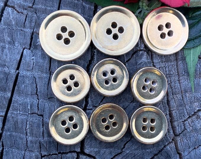 Yellow Gold Bulgari Buttons, Gold Bulgari Buttons, Yellow Gold Buttons