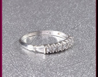 Vintage Diamond Wedding Band Vintage Wedding Band Vintage Eternity Band Platinum Wedding Ring