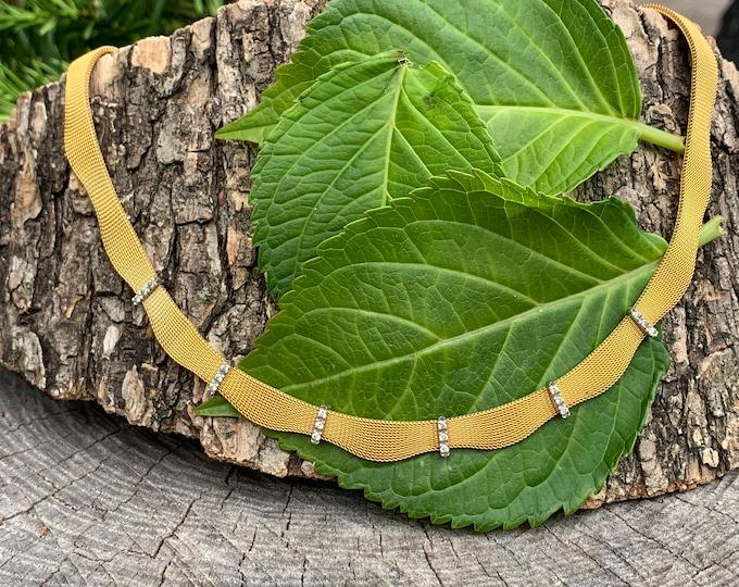 Gold Diamond Choker, Diamond Choker Necklace, Antique Diamond Necklace, Gold Choker Necklace