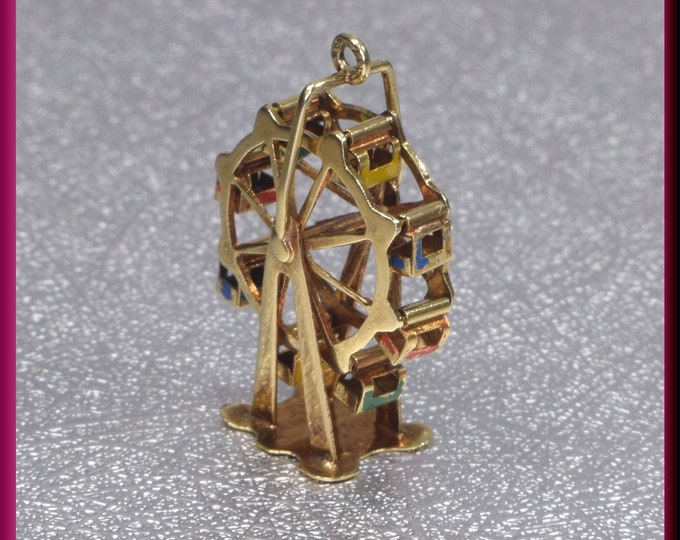 RESERVED for ANGEL LAYAWAY Second Deposit (25.00 dollars) Ferris Wheel Ferris Wheel Charm Ferris Wheel Pendant Gold Ferris Wheel