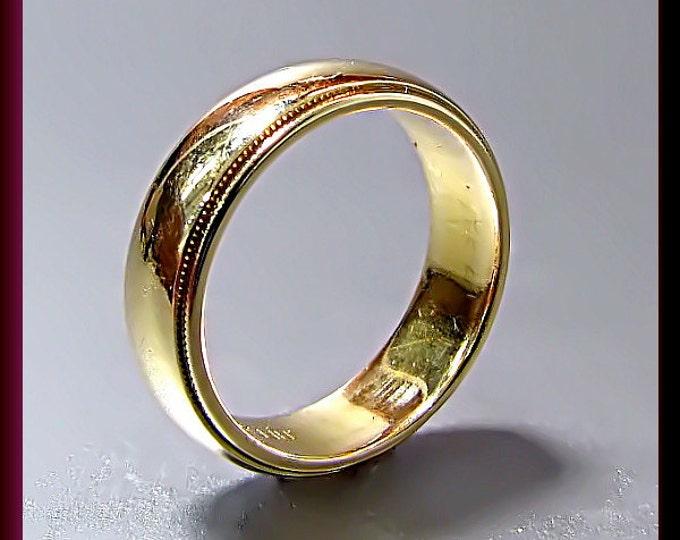 Vintage Tiffany and Company 18K Yellow Gold Wedding Band Ring
