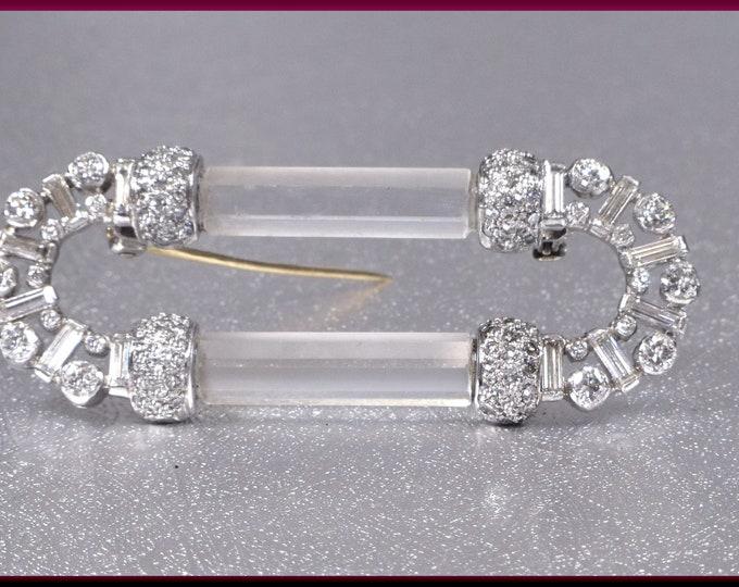 Art Deco Brooch, Art Deco Diamond Brooch, Brooch Bouquet, Bailey, Banks & Biddle, Diamond Brooch, Crystal Brooch, Art Deco Diamond Pin