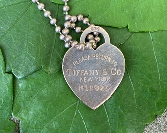 Tiffany Heart Pendant, Tiffany Heart Necklace, Silver Tiffany Heart, Return to Tiffany