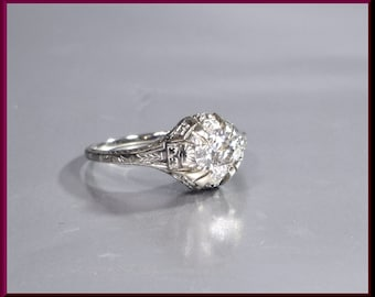 Art Deco Engagement Ring Antique Engagement Ring  Alternative Ring Art Deco Ring Vintage Ring Statement Ring Filigree Ring Dainty Ring