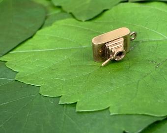 Gold Camera Charm, Camera Charm, Camera Pendant, Camera Necklace